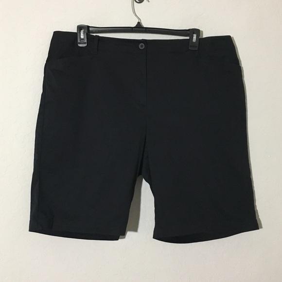 Talbots Pants - Talbots Bermuda Shorts Cotton Blend Black Sz 20W